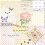 Girly pastel vintage collage