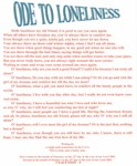 Ode to loneliness