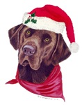 Christmas Chocolate Labradors