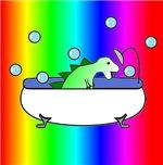 Dino in Tub (Rainbow)