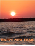 Sunset Jewish New Year Greeting Card