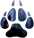 Wolf Paw Cutout