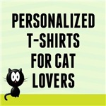 Personalized Cat Lover T-Shirts