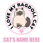 Personalized Ragdoll Cat Lover T-Shirts
