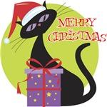 Retro Christmas Cat