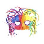 Feathered Mardi Gras Mask