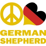 Peace Love German Shepherd