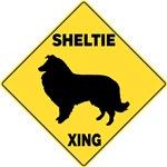 Shetland Sheepdog Crossing Sign