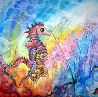 seahorse Family of 3