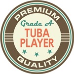 Tuba Player T-shirts (Premium Quali