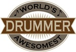 Drummer (World's Awesomest) Tshirt Gifts