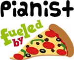 Pianist Funny Fueled By Pizza T-shirts