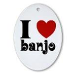 Banjo Music Christmas Ornaments