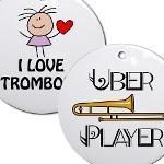 Trombone Christmas Ornaments