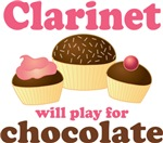 Funny Chocolate Clarinet T-shirts