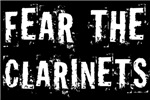 Fear The Clarinets T-shirts for Clarinetists