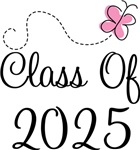Butterfly Class Of 2025 T-shirts