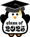 Penguin Class Of 2025 T-shirts and Graduation Gift