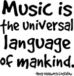 Longfellow Music Quote T-shirts and Gifts