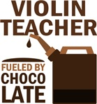 VIOLIN TEACHER GIFT Chocolate T-shirts