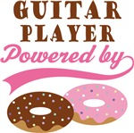 GUITAR PLAYER POWERED BY DONUTS T-shirts