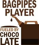 Bagpipes Player Fueled By Chocolate Gifts