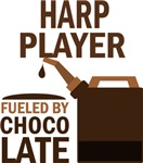 Harp Player Fueled By Chocolate Gifts