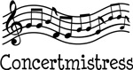 CONCERTMISTRESS Music Design Gifts and Shirts