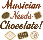 Funny Musician Needs Chocolate T-shirts