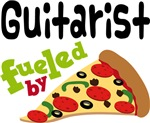 Guitarist Fueled By Pizza T shirts