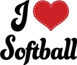 I Heart Softball T-shirts and Gifts