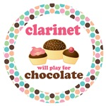 CLARINET WILL PLAY FOR CHOCOLATE FUNNY MUSIC GIFTS