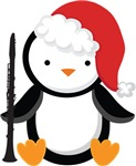Clarinet Christmas Penguin Gifts and Shirts