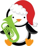 Tuba Christmas Penguin Gifts and Shirt
