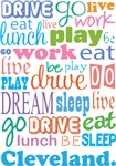 Copy of EAT SLEEP LIVE DREAM CLEVELAND T-SHIRTS