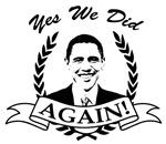 Obama Yes We Did Again V2 BW