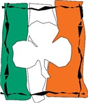 Irish Flag with Shamrock