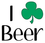 I Love (Heart Shamrock) Beer