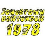 1978 Jonestown Bartender T-Shirts and very black h