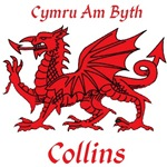 Collins Welsh Dragon and Motto