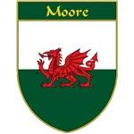 Moore Welsh Flag Shield
