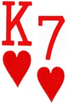 King of Hearts Seven of Hearts