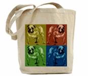 Color Tone Bulldog Tote Bags