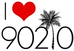 I Love 90210 Palm Tree T-Shirts