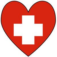 Swiss Flag Heart