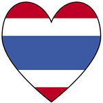 Thai Flag Heart Valentine