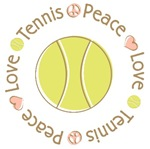 Peace Love Tennis T-shirts Gifts