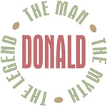 Donald the Man the Myth the Legend T-shirts Gifts