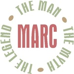 Marc the Man the Myth the Legend T-shirts Gifts