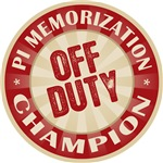 Off Duty Pi Memorization Champ Tees Gifts